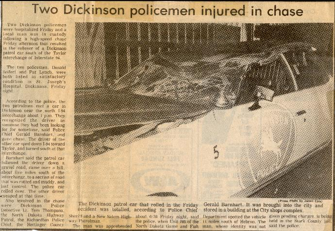 Police pursuit crash 3/26/76