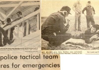 Tactical team training 1977